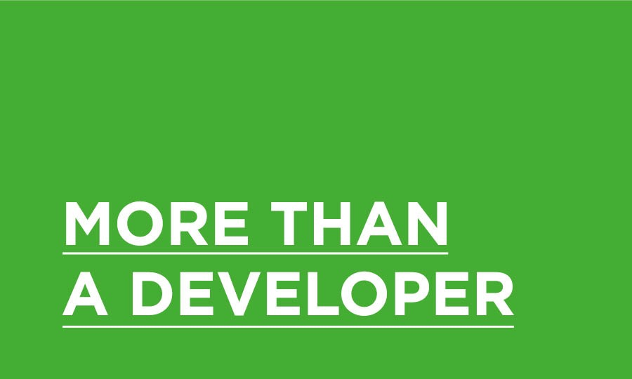 More than a developer
