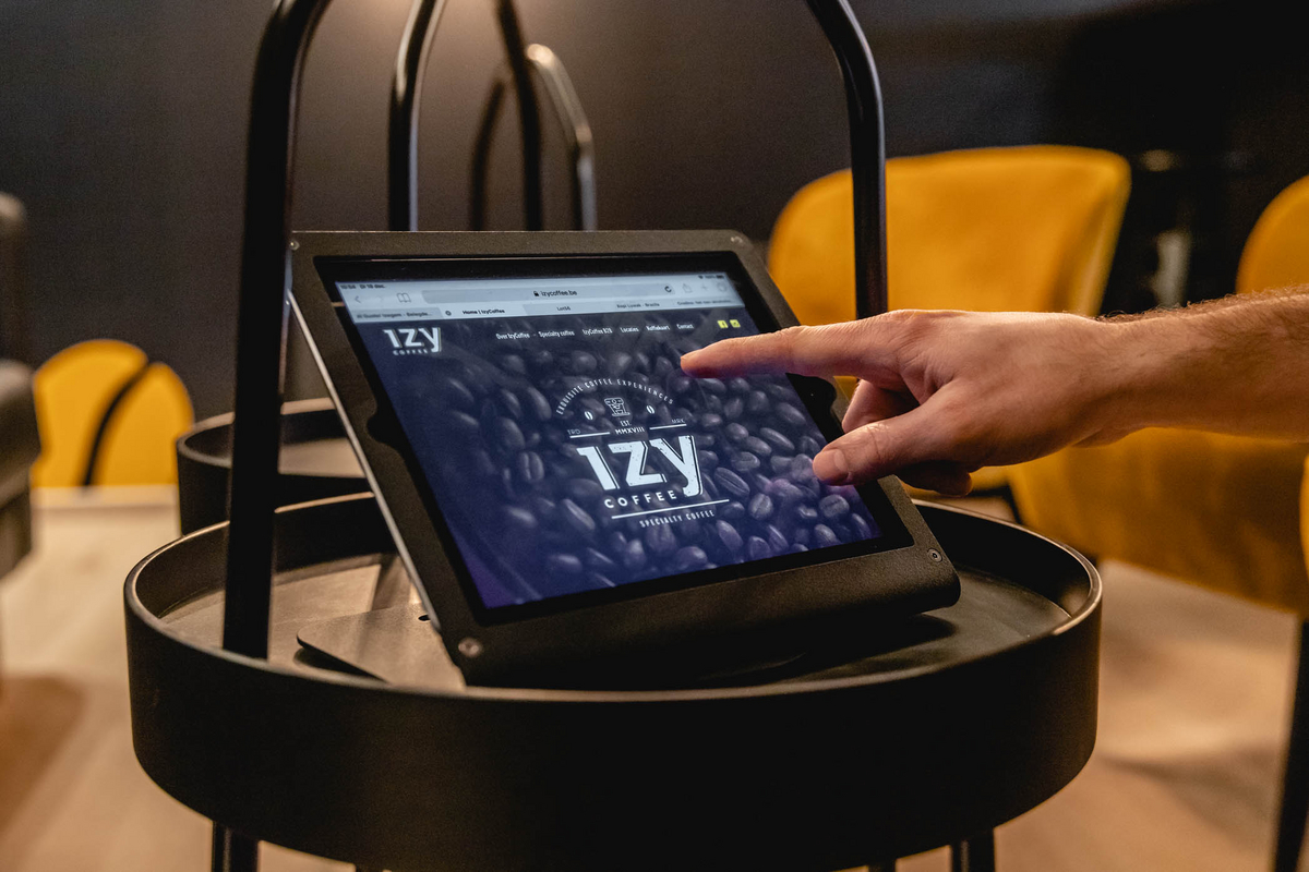izy coffee website