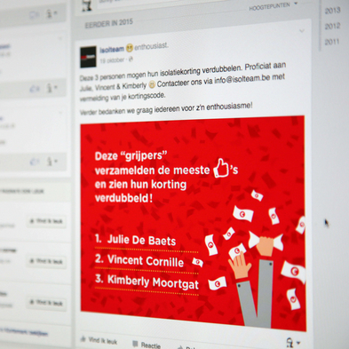 Facebook Isolteam advertentie Grijp Je Rijk